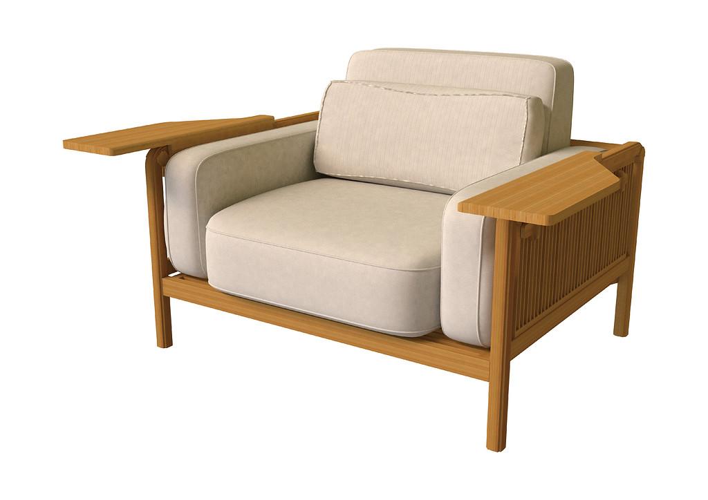 Chair xiao yao design intelligence award for Bent bamboo furniture