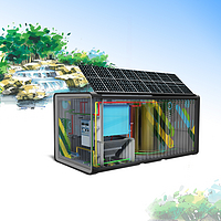 Movable intelligent ecological water treatment system equipment