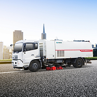 Hybrid decoupling single engine washing-and-cleaning truck